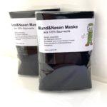 2er Pack Mund & Nasen Maske 2x schwarz